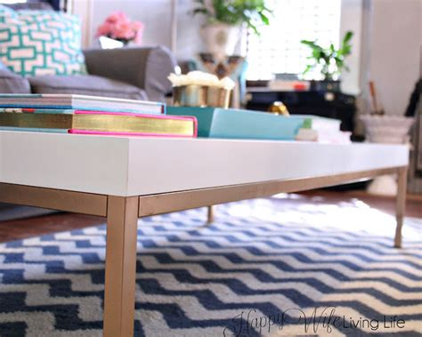 ikea hacks coffee table happy wife living life new coffee table reveal and easy