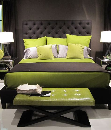 green bed gray and green colors we love casa nova design group