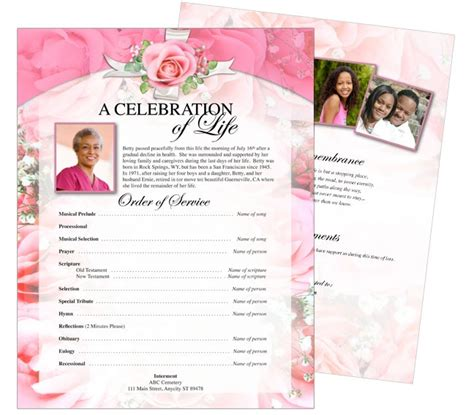 funeral flyer template printable funeral memorial flyers sles one page