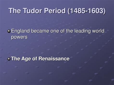 british monarchy the tudors 1485 1603 discover britain ppt british history powerpoint presentation id 3000968