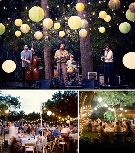 backyard lighting for a party how to throw a backyard wedding decor green wedding