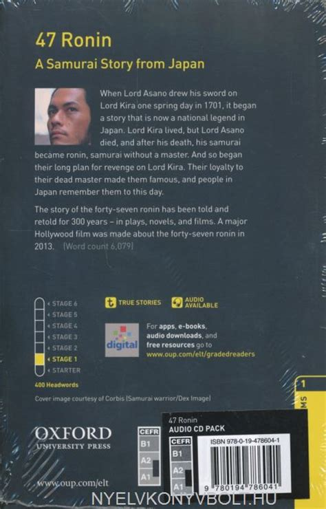 libro oxford bookworms library level 47 ronin a samurai story from japan with audio cd oxford bookworms library level 1