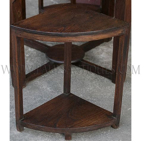 Center Tables And Side Stools by Burmese Teak Deco Center Table With Small Side