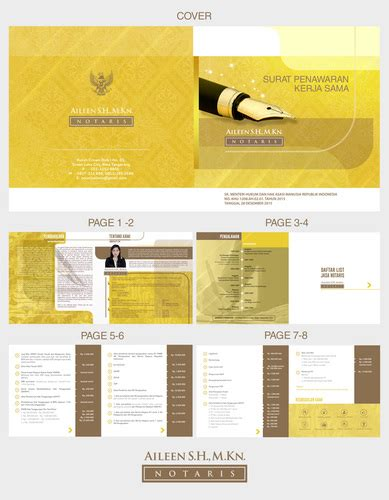 layout kantor notaris sribu cosmetic and beauty company profile design service