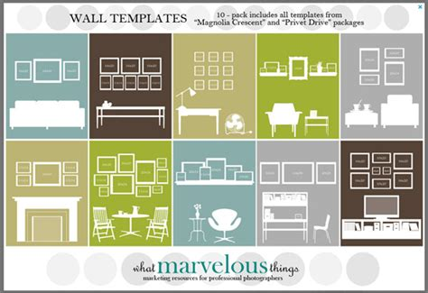 photo wall display templates pottery barn wall gallery template studio design