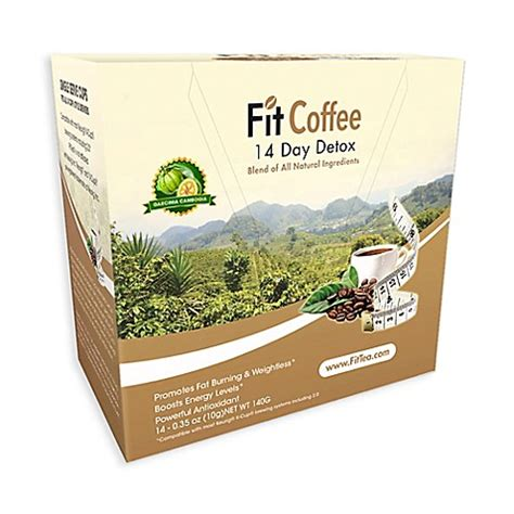 Does Coffee Help Detox by Fittea 14 Day Detox Single Serve Coffee Cups Bed Bath