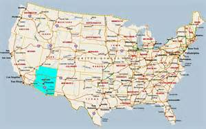 arizona usa map arizona map in usa