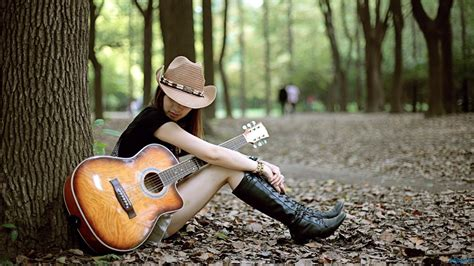 Guitar Couple Hd Wallpaper | cute stylish girls with guitar cool wallpapers