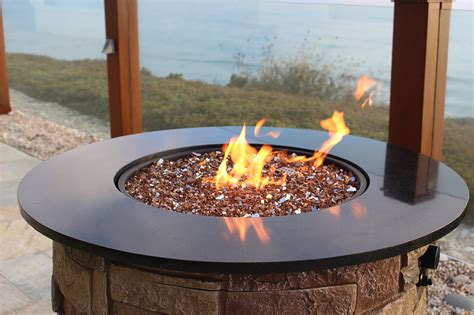 Reflective Fire Glass Fire Pit Inspiration Design Ideas Glass Firepits