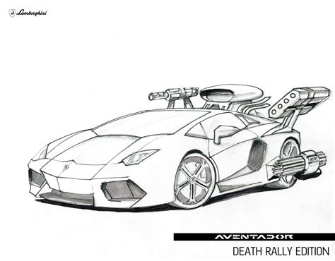 lamborghini drawing how to draw aventador