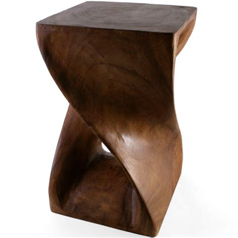 Wood Side Tables by Twisted Solid Acacia Wood Side Table