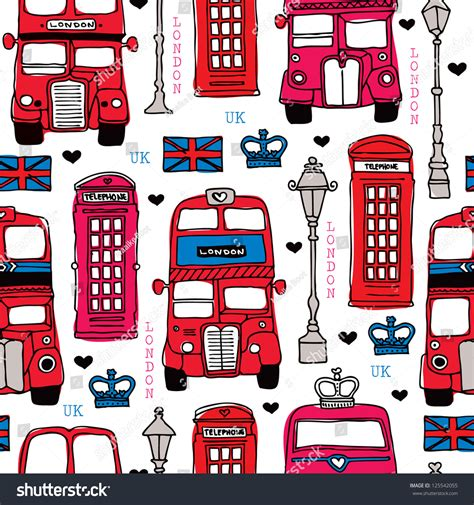 pattern html tel seamless illustration london love uk double decker bus and