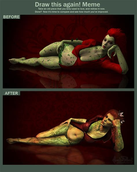 Poison Ivy Meme - draw this again poison ivy by alaska pollock on deviantart