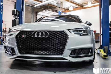 audi b9 s4 tune b9 s4 rs style mesh front grill upgrade parts score