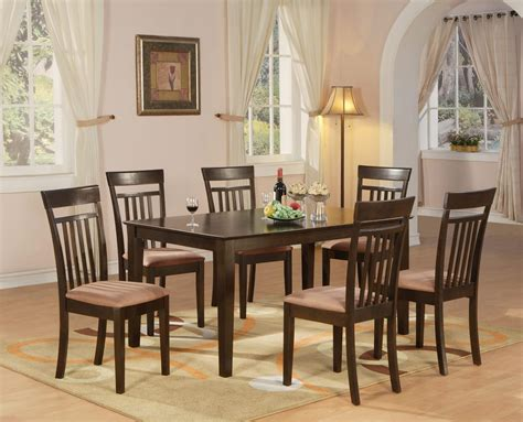 kitchen dining sets with benches 7 pc dining room dinette kitchen set table and 6 chairs ebay