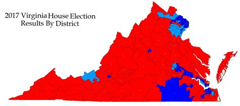 virginia house of delegates 2018 map of the house of delegates updated the bull elephant