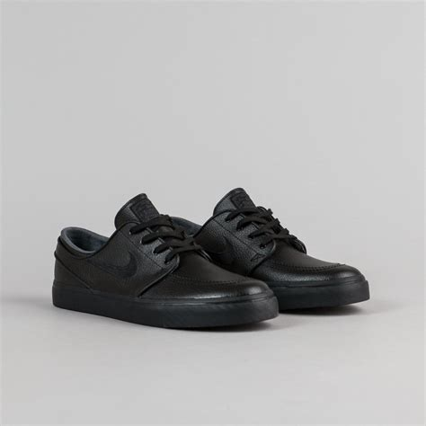 nike sb stefan janoski leather shoes black black