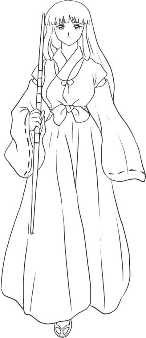 printable inuyasha coloring pages  kids