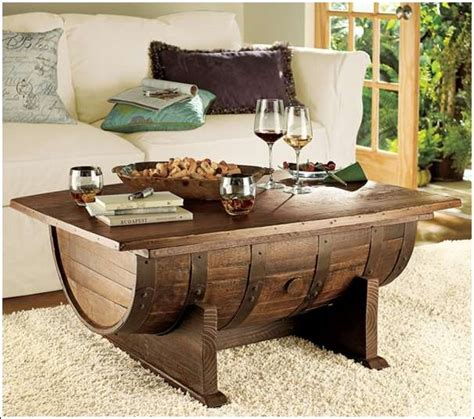 Amazing Table by Recycle A Wine Barrel Into An Amazing Coffee Table