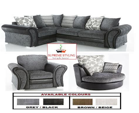 Snuggle Corner Sofa by Brand New Starlet Corner Sofa Suite Cuddle Swivel Arm