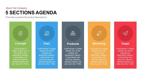 sections agenda powerpoint template  keynote