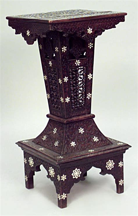 Middle Eastern Furniture by Middle Eastern Moorish Syrian Misc Furniture Pedestal