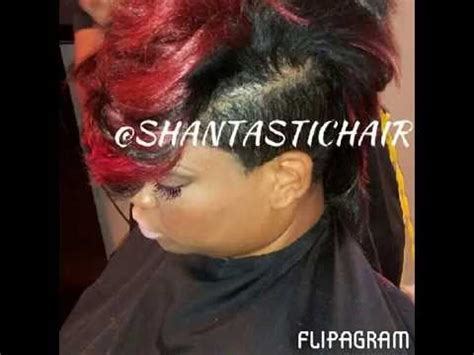 how to make a mogawk with weave quick weave mohawk shantastic style youtube