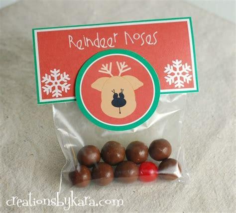 printable reindeer noses bag topper easy christmas gift reindeer noses
