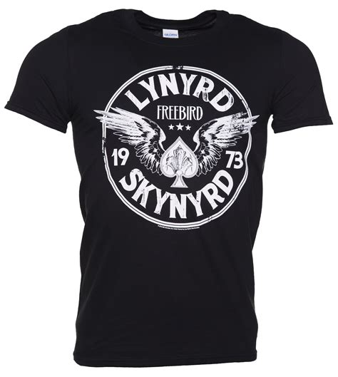 lynyrd skynyrd t shirt men s black lynyrd skynyrd freebird 73 wings t shirt