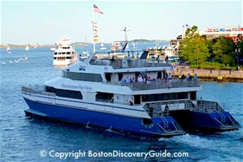 ferry from boston to provincetown cape cod boston cruises whale harbor islands charles