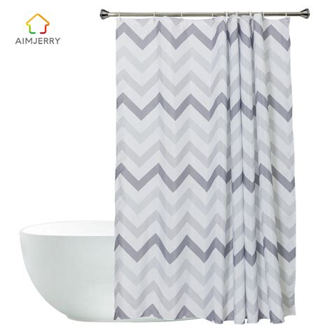 Aimjerry Striped White And Black London Bathtub Bathroom Black And White Bathroom Shower Curtain