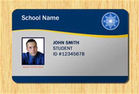 Template Id Card Photoshop Zebra Printer by Student Id Template 1 Other Files Patterns And Templates