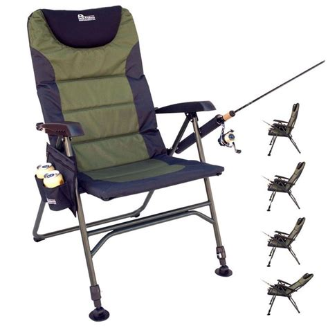 reclining fishing chair portable reclining folding chair for fishing with