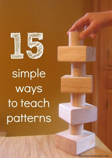 creative pattern games 15 simple ways to teach patterns to preschoolers