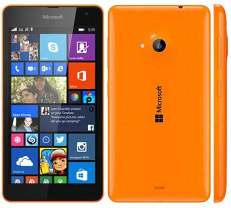 microsoft lumia 535 gsm wcdma dual sim orange microsoft lumia 535 orange features 1 2 ghz quad core