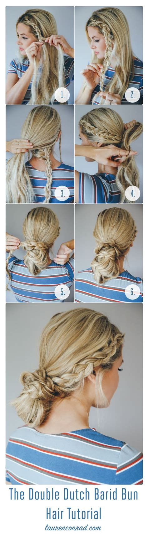easy hairstyles that only use 3 packs of yaki weave boxbraids hair how to the double dutch braid bun lauren conrad