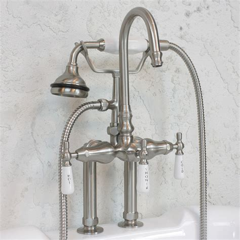 Tub Faucet Deck Mount by Edwardian Deck Mount Tub Faucet In Brushed Nickel
