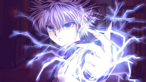 anime wallpaper hd hunter x hunter killua lightning hunter x hunter 1k wallpaper hd
