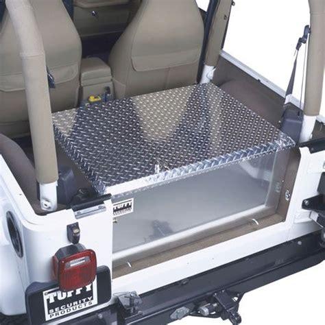 Jeep Wrangler Cargo Box Tuffy 054 07 Tuffy Security Products Aluminum Rear Cargo