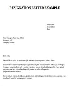 How To Write A Respectful Resignation Letter by Sle Resignation Letter For New 7 Exles In Pdf Word