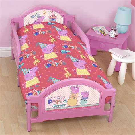 peppa pig bedding peppa pig junior cot duvet cover bedding set bundle 4 in 1