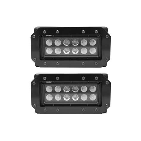 flush mount led lights truck westin 57 0025 hdx stealth flush mount led light bar kit
