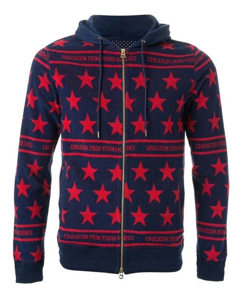 pattern zip up hoodie education from youngmachines star pattern zip up hoodie in