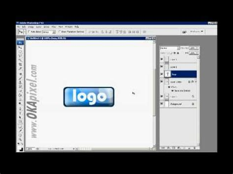 adobe photoshop cs2 tutorial youtube how to create a simple logo with adobe photoshop cs2 cs3
