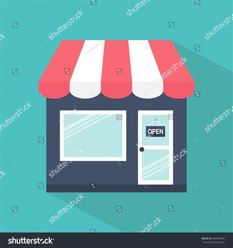 icon design store brunei store icon shop icon flat design stock vector 245446426