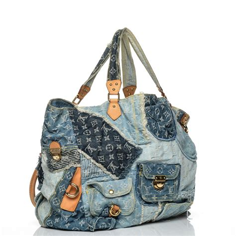 Patchwork Louis Vuitton - louis vuitton denim patchwork cabby tote blue 192347