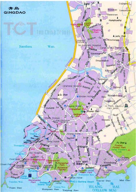 qingdao map qingdao maps map of qingdao china qingdao tourist maps