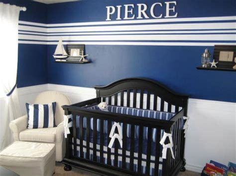 Nautical Themed Nursery Decor Baby Nursery Gorgeous Baby Room Design With Black Crib And Blue Bedding Also Cozy White Glider