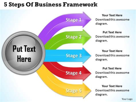 Framework Template by 1013 Business Ppt Diagram 5 Steps Of Business Framework
