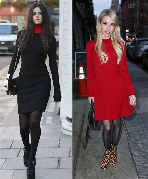 celebrities wearing tights with their instyle com